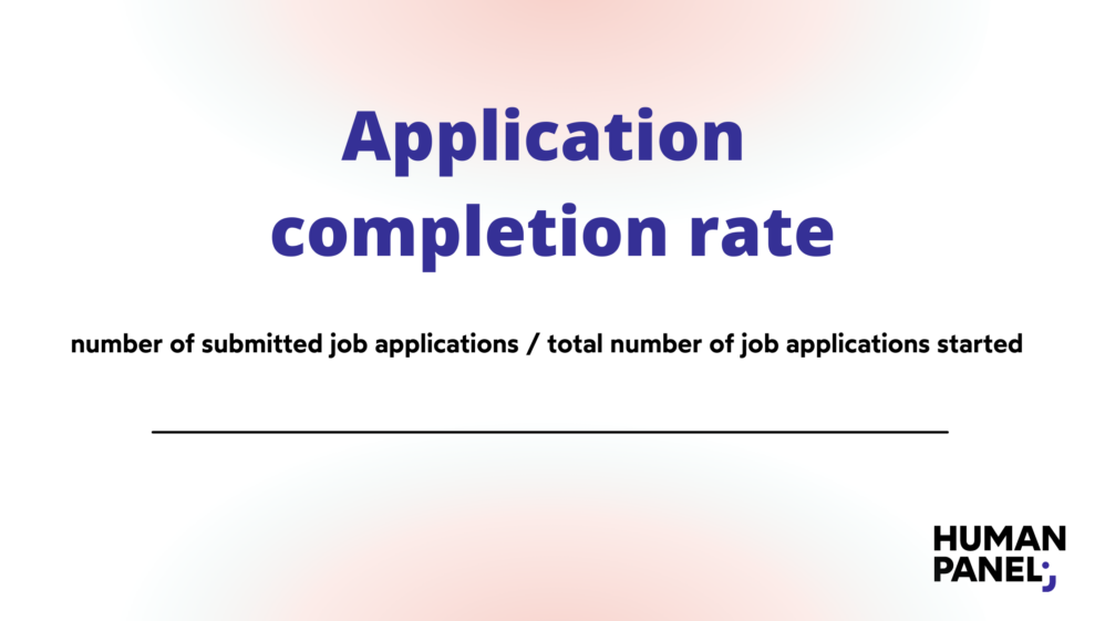HR metrics: Application completion rate