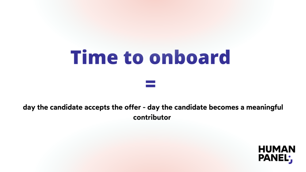 HR metrics: time to onboard