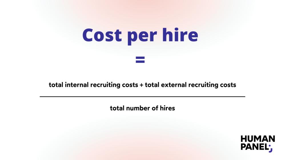 The formula to calculate cost per hire